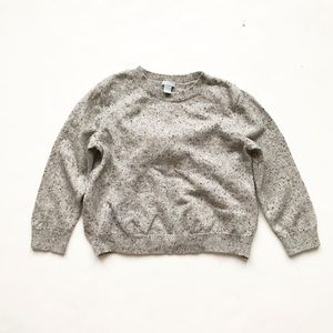 COS gray speckled wool bow back sweater EUC 2-4Y